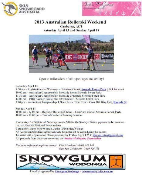 Rollerski Event Flier 2013
