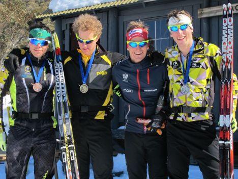 L-R: Alasdair Tutt, Phillip Bellingham, Victor Gustafsson (SWE), Callum Watson