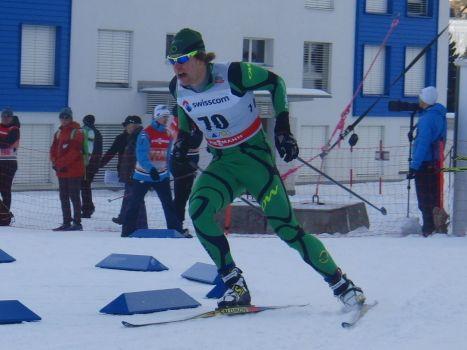 Phillip Bellingham in the Davos Sprint