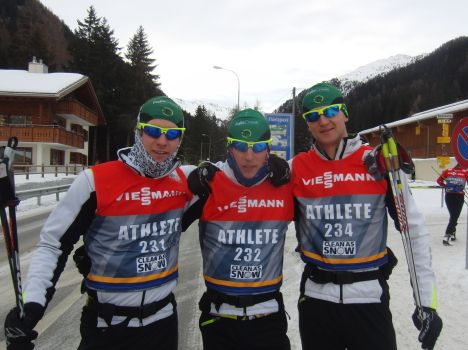 The Boys before the start of the Sprint