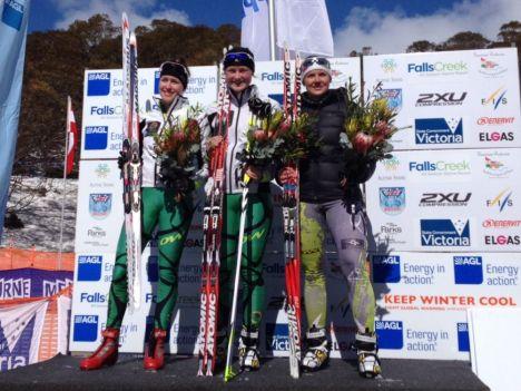 Australian Birkebeiner Podium Women Kat Paul, Casey Wright, Aislinn Kildea