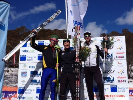 Kangaroo Hoppet Podium Men Phillip Bellingham, Valerio Leccardi, Paul Kovacs