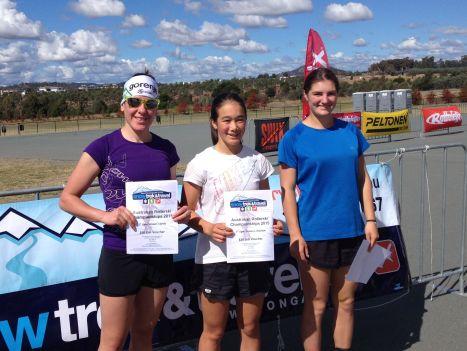 AUS+rollerski+women+podium+2+April+2015