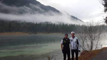 A very snowless morning run in St Ulrich am Pillersee