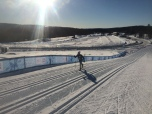 Lilly testing out the classic sprint track on Monday.
